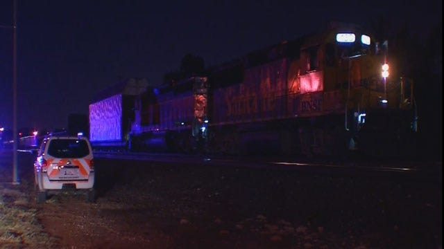 Man In Critical Condition After Being Hit By Train In SE OKC