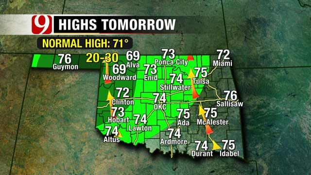 Storm System Brings Rain To Oklahoma Over The Weekend