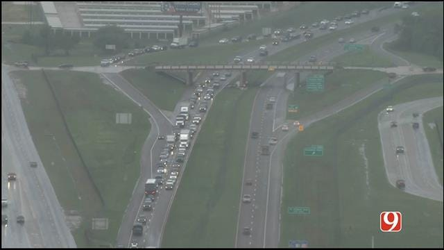 Crews Respond To Overturned Vehicle On I-40 At Air Depot