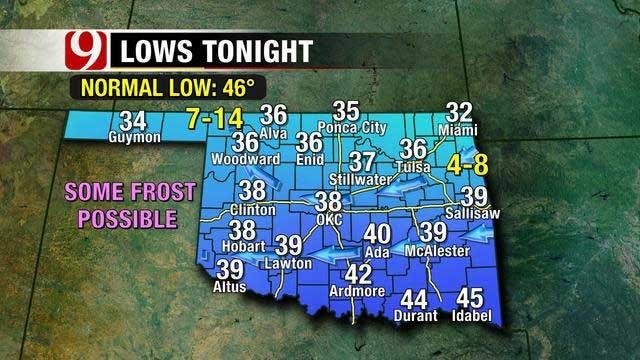 Mild Temperatures, Slight Rain Chances This Weekend In Oklahoma,
