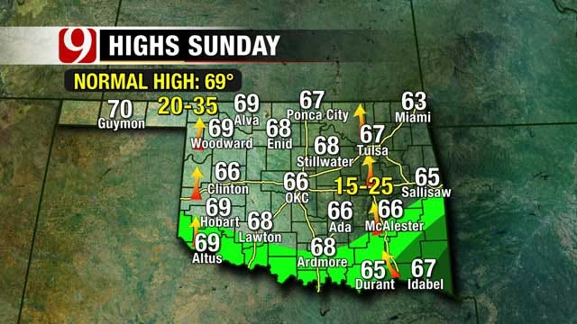 Mild Temperatures, Slight Rain Chances This Weekend In Oklahoma,
