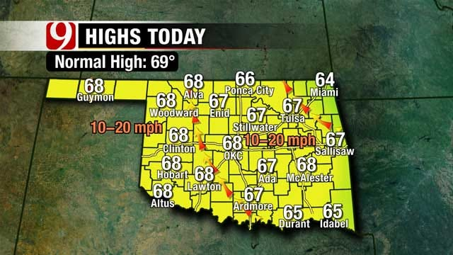 Temperatures Climb, But Chances Of Storms This Weekend In Oklahoma