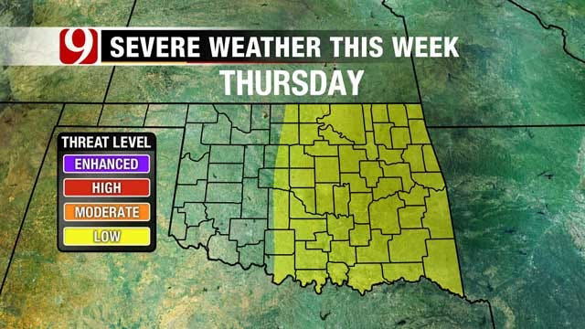 Oklahoma Severe Weather Possible Throughout Upcoming Week