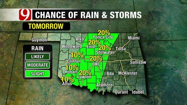 Storms Possible For Central OK Tuesday And Wednesday