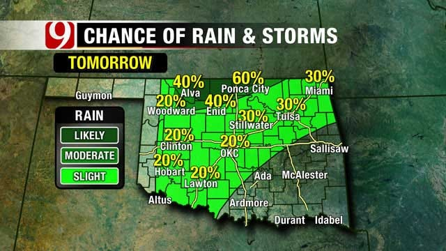 Clear Tonight, Storm Chances Rise Wednesday In Oklahoma