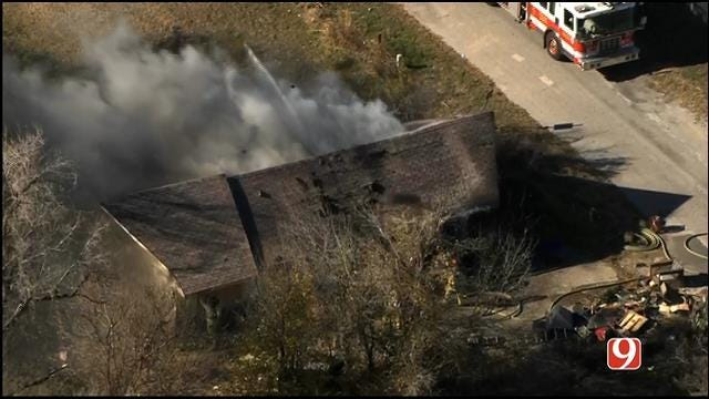 Crews Put Out Fire At Vacant House In West OKC
