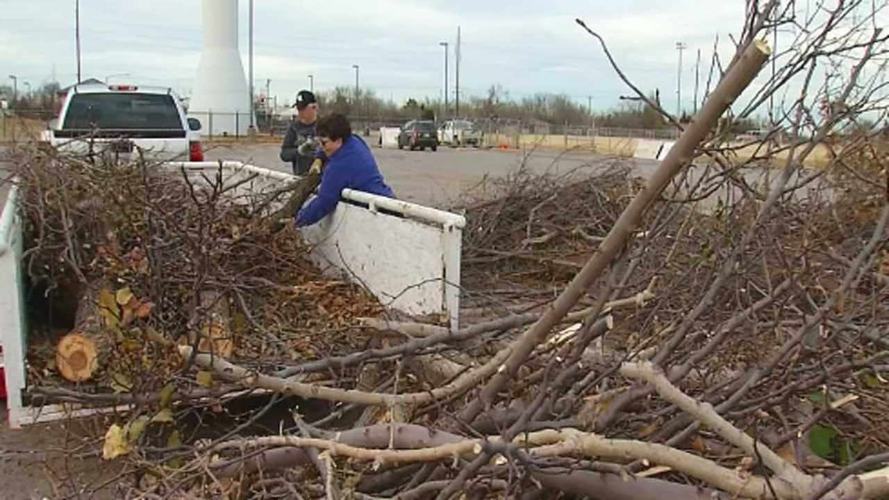 City Of Edmond Says Ice Storm Debris Cleanup Will Take Months