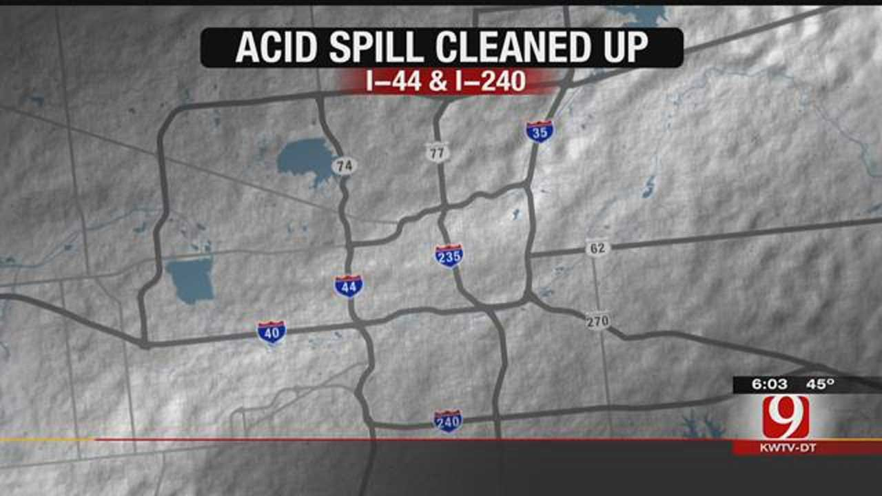 Crews Clean Up Large Chemical Spill In SW OKC