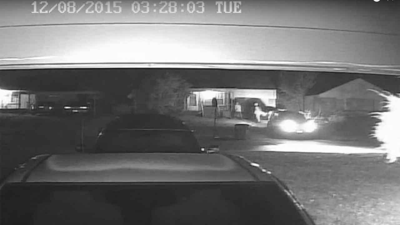 Neighbor's Security Cam Captures NW OKC Home Invasion
