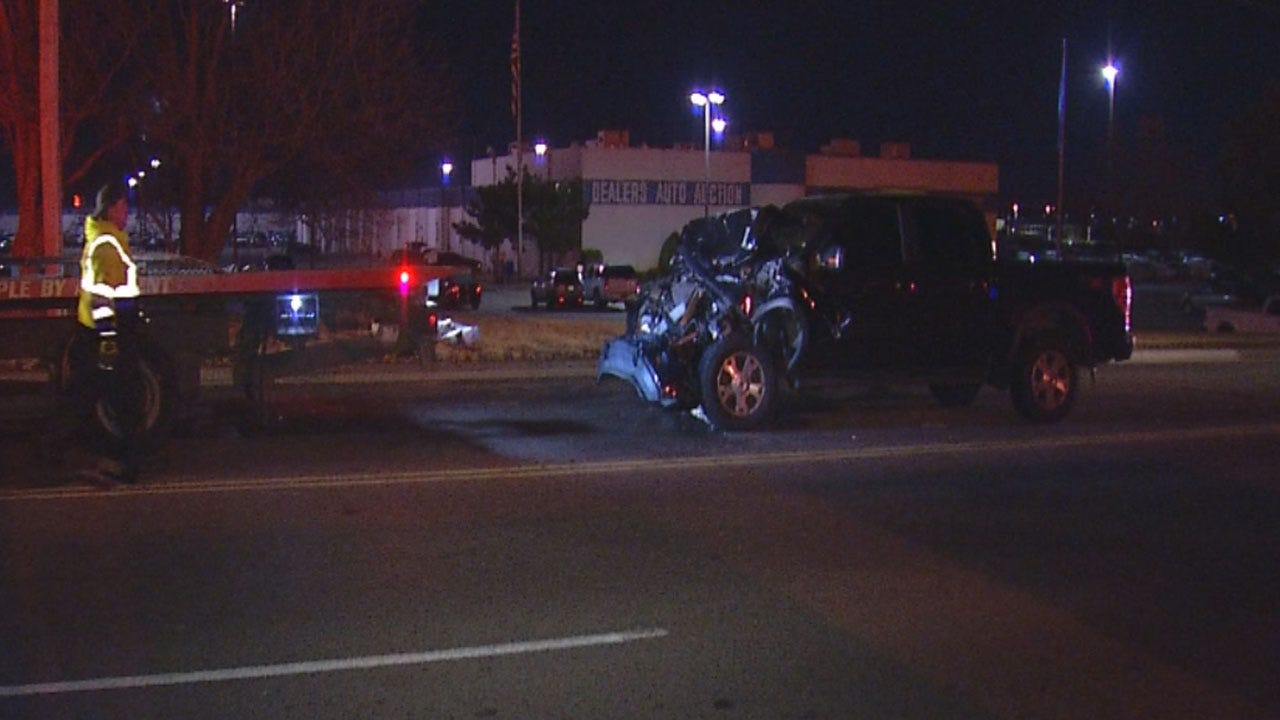 Driver Injured After Rear-Ending UPS Truck In SW OKC