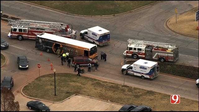 Multiple Injuries Reported Following Crash Involving Bus In NW OKC