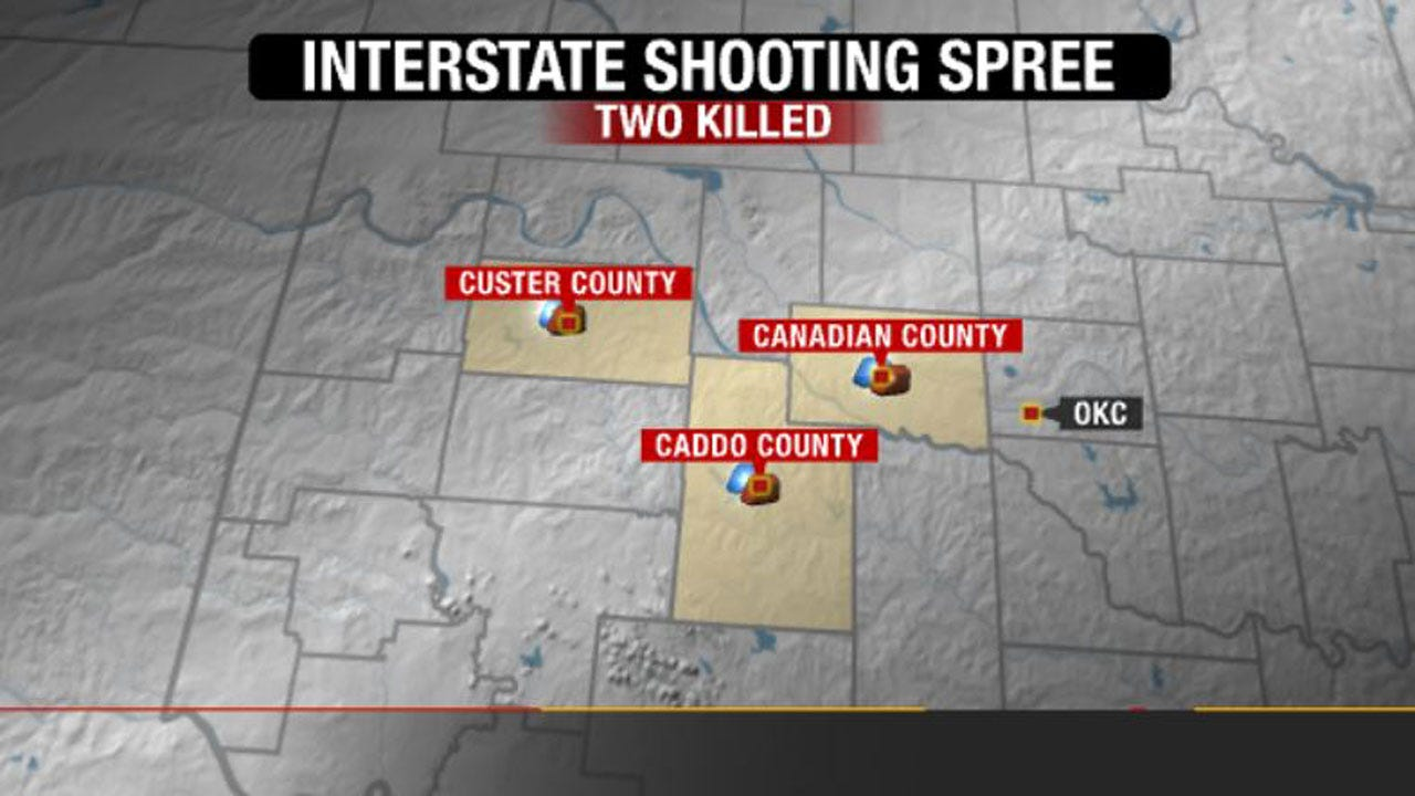 Two Killed During I-40 Shooting Spree West Of Oklahoma City
