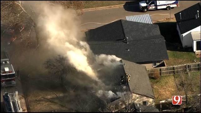 Crews Battle House Fire In Northwest OKC