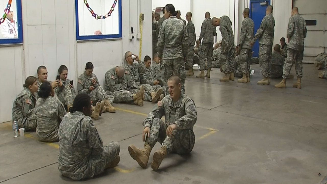 Hundreds Of Soldiers Heading Home For The Holidays