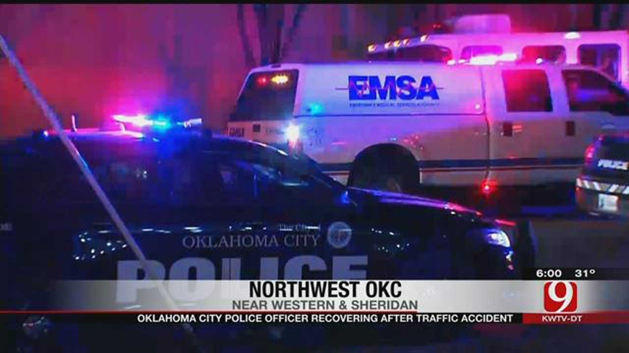 OKC Police Officer Recovering After Traffic Accident