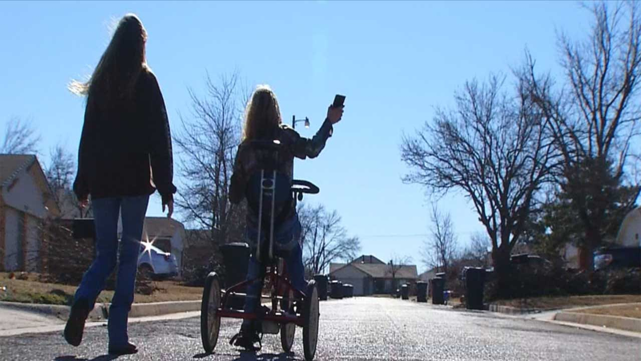 Girl's Tricycle Saved By OKC Police Officers