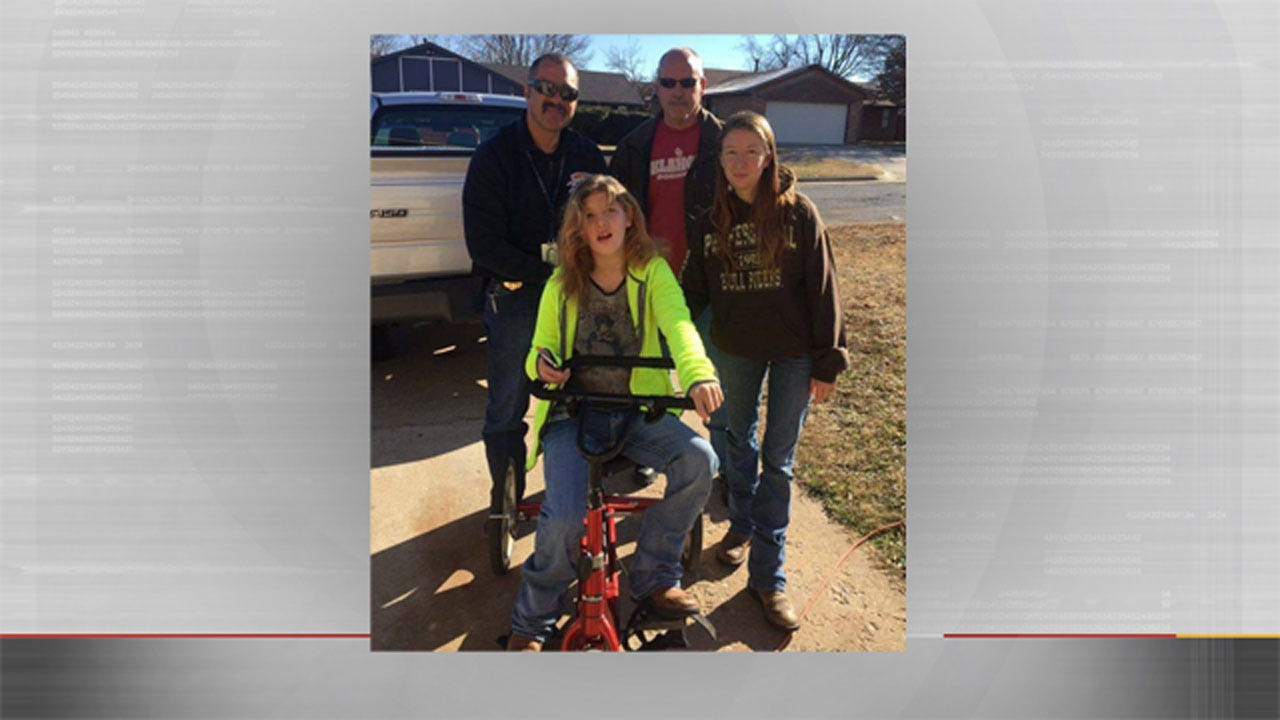 OKC Officers Repair Damaged Therapy Trike For Girl