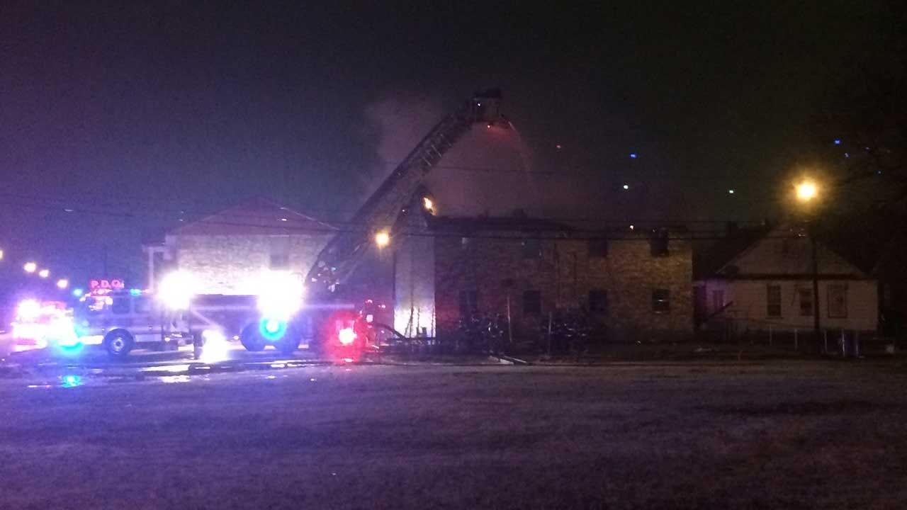 Crews Battle Metro Apartment Building Fire