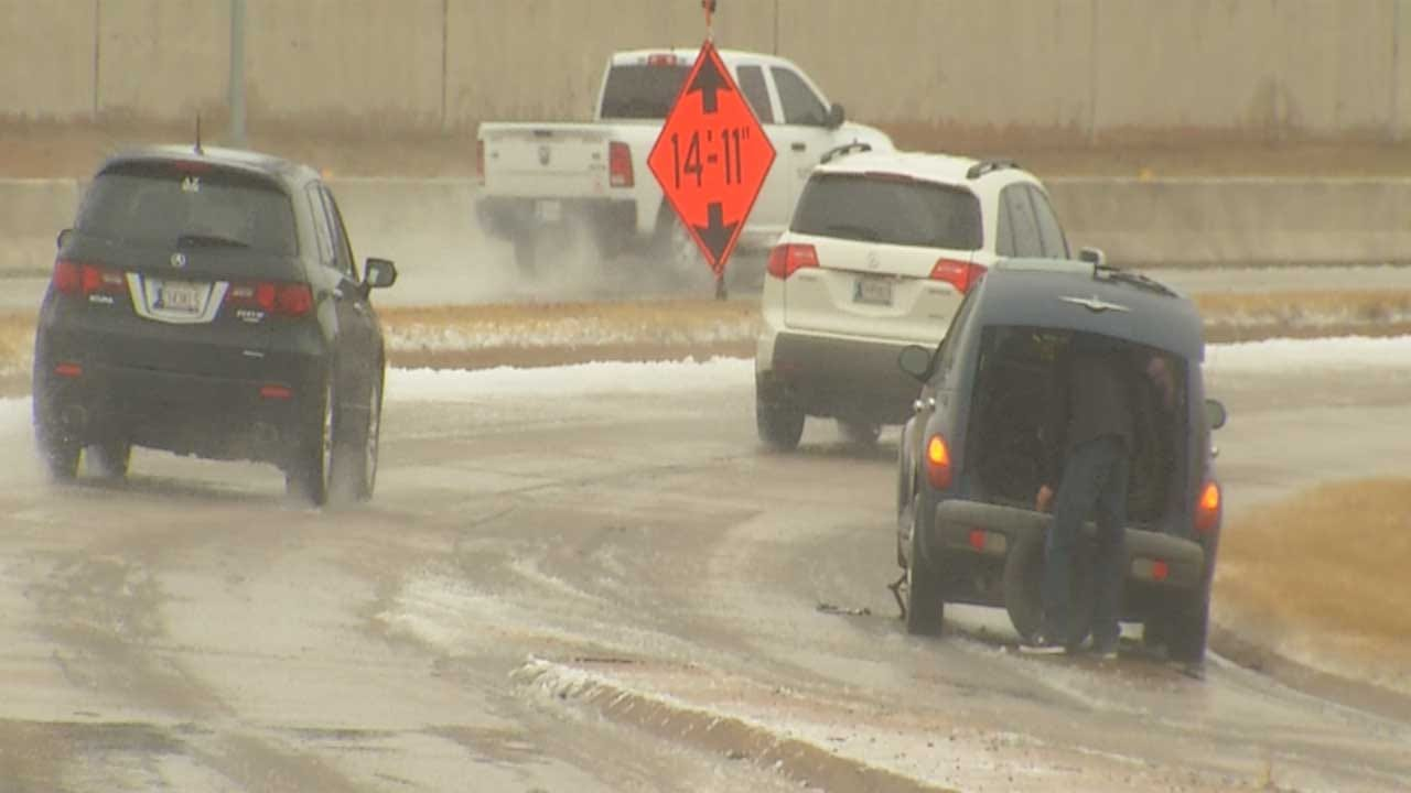 Drivers Take Precautions As Winter Storms Go Through State