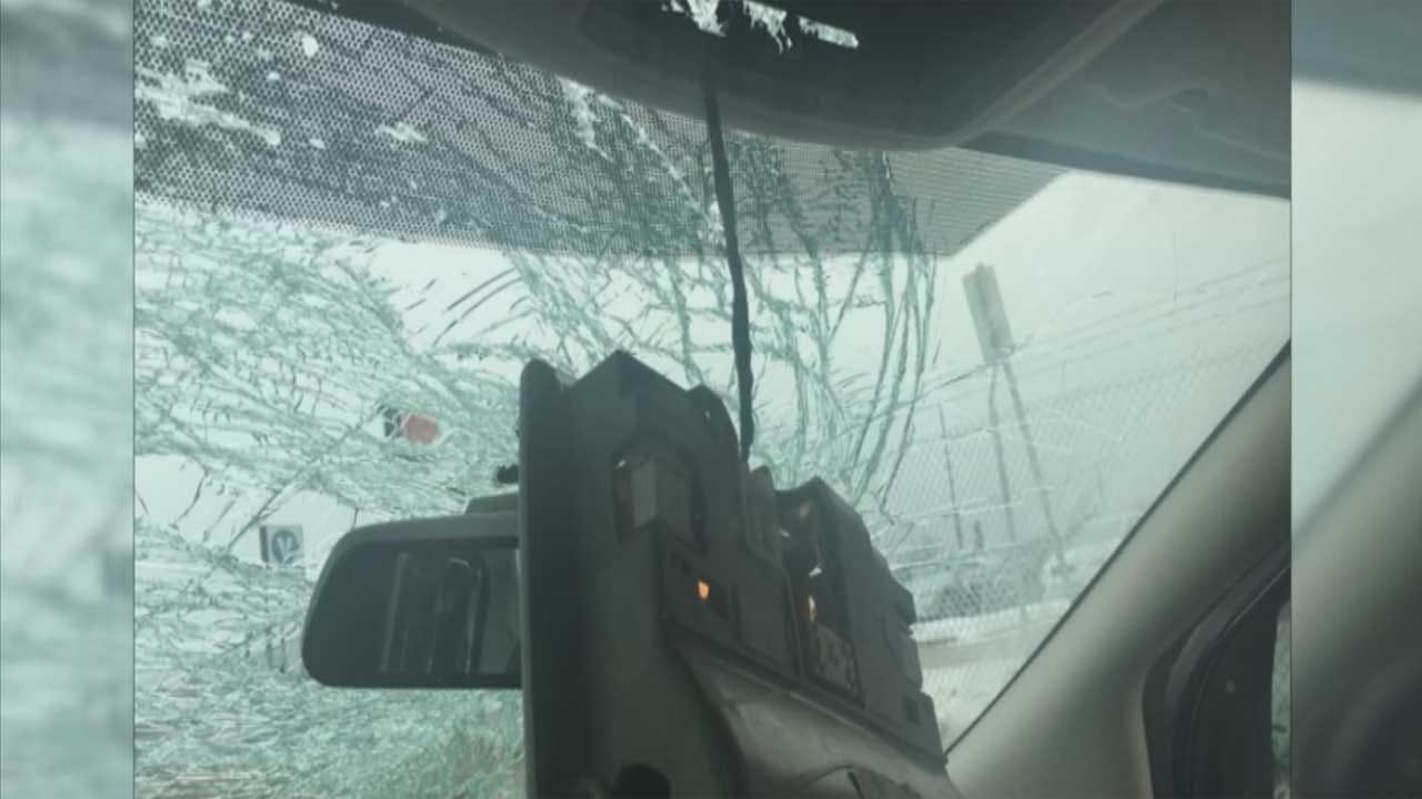 Metro Family Falls Victim To Flying Ice