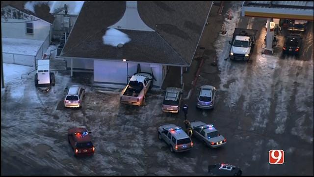 Pickup Crashes Into Gas Station Near El Reno