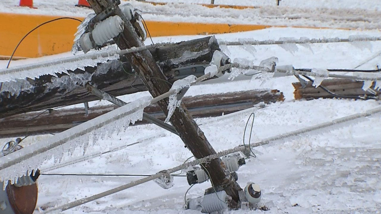 Thousands Of Oklahomans Still Without Power