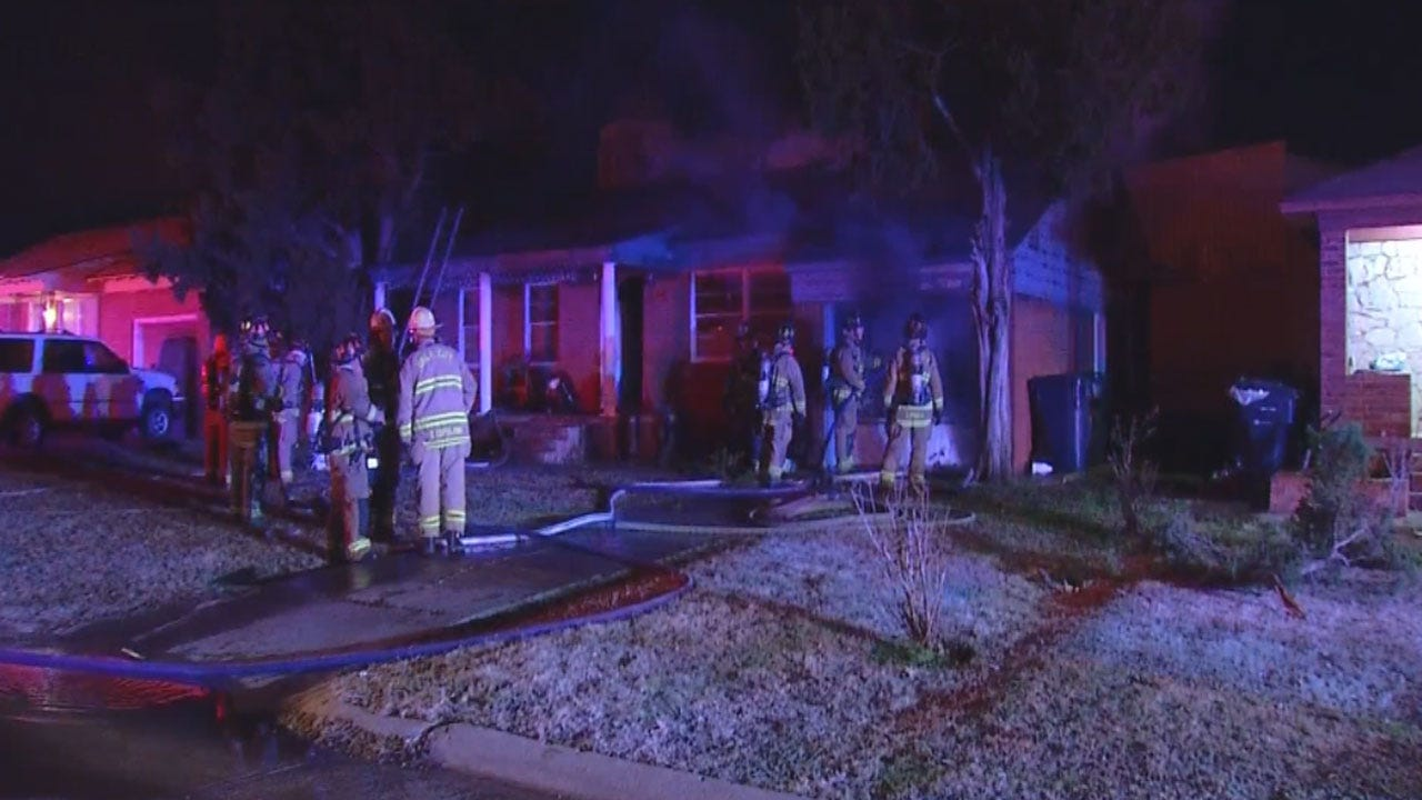 OKC Family Escapes Early Morning House Fire