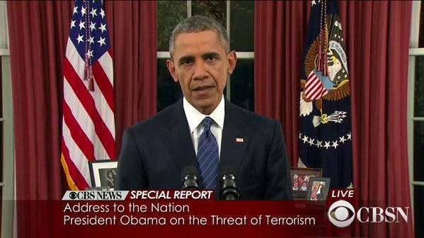 Obama Delivers Speech From Oval Office On Terrorism, ISIS