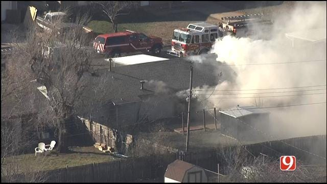 Firefighters Put Out Structure Fire In Moore