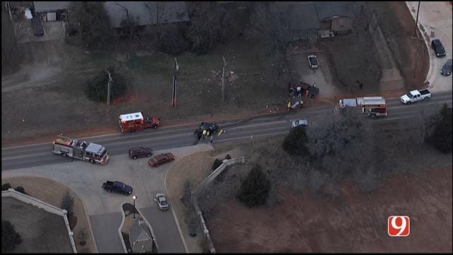 Crews Respond To 3-Car Crash Near Broadway, Waterloo Rd. In Edmond