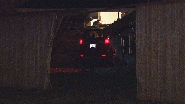 Police Investigate After Car Crashes Into Home In Norman