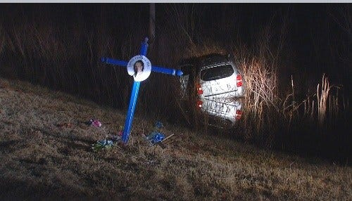 OKC Police: Drunk Driver Damages Roadside Memorial Along I-40