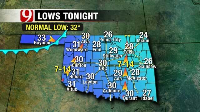 Winter Mix On Its Way Across Oklahoma