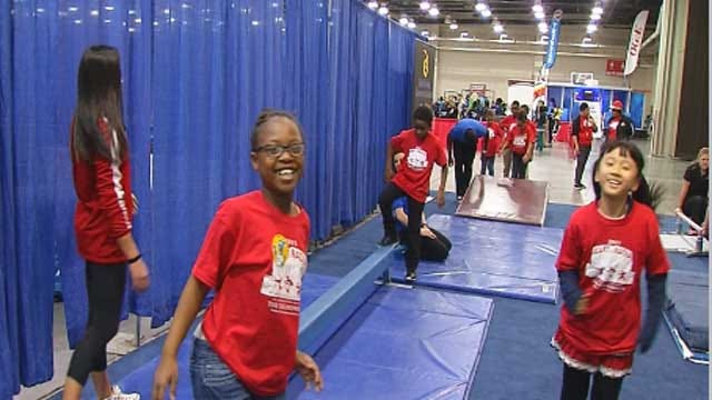 Olympic Gold Medalist Encouraging OKC Kids To Be Healthy