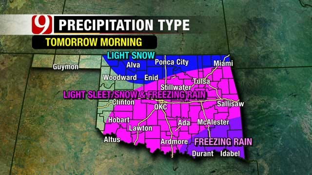 Winter Mix Expected Throughout Oklahoma