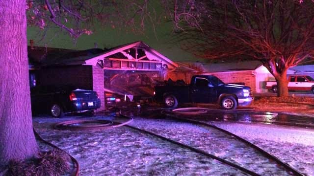 Couple Escapes After Car Fire Spreads To SW OKC Home