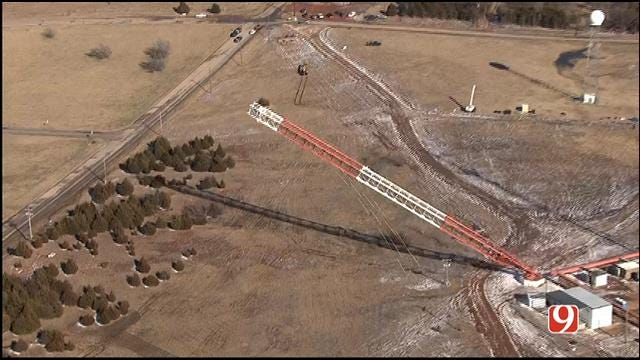 Final Piece Of KWTV's Broadcast Tower Falls