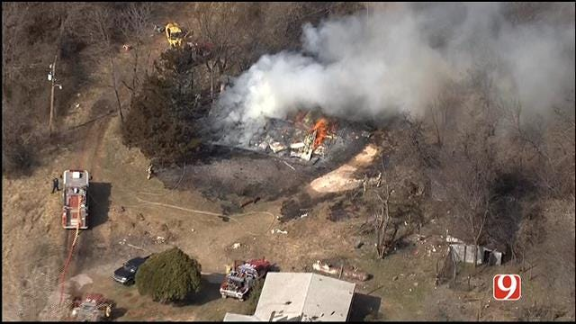 Fire Destroys Abandoned Home In SE OKC