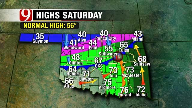 Brief Warmup Arrives Ahead Of Another Frigid Oklahoma Weekend