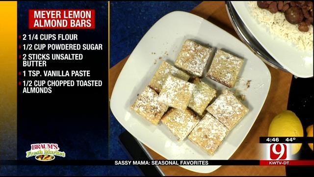Meyer Lemon Almond Bars