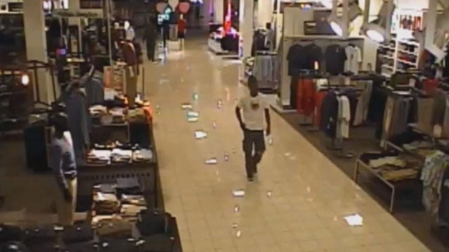 Surveillance Video Shows Penn Square Mall Robbery Suspect