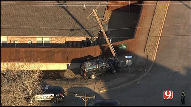 SUV Hits Power Pole, Causes Outages In Moore