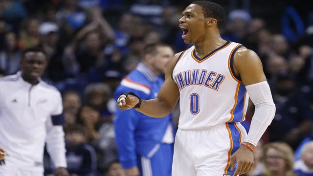 Westbrook's Triple Double Helps Thunder Cruise Past Magic