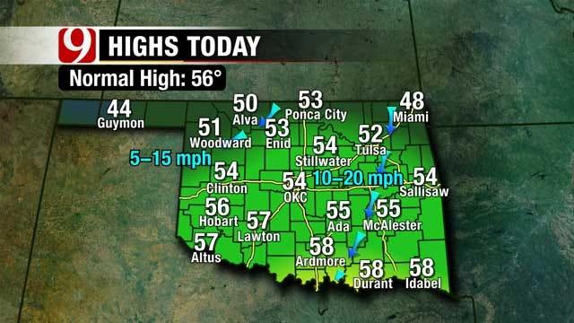 Snow Chances Increase Through Monday For Oklahoma