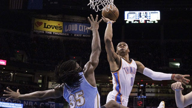 Westbrook's Huge Night Leads OKC In Romp Over Denver
