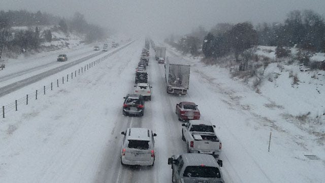 Multiple Crashes Cause Heavy Congestion On Wintry OKC Highways
