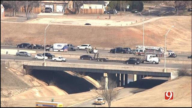 Two injured In Multi-Vehicle Crash On I-44 In OKC