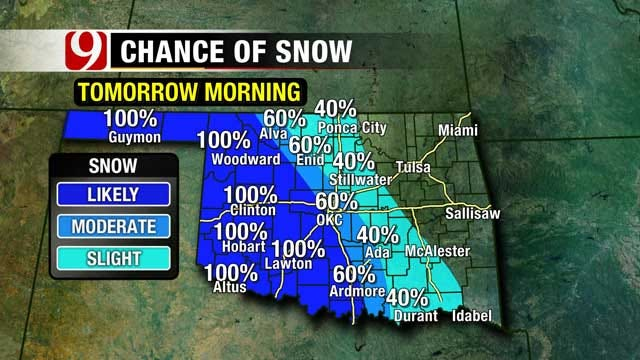Snow Showers Expected Throughout The Weekend Across Oklahoma