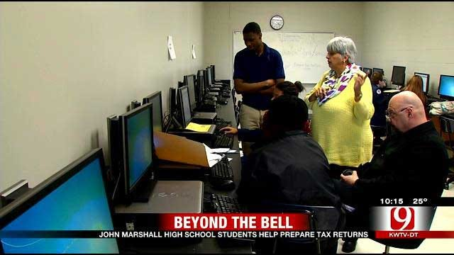Beyond The Bell: High School Students Help Prepare Tax Returns