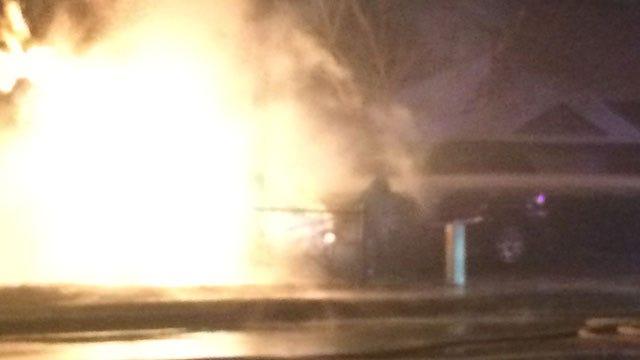 Crews Battle Gas Meter In Flames In NW Oklahoma City